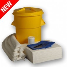 90L Oil Only Spill Response Kit Circular PE Bin