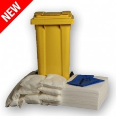 120L Oil Only Spill Response Kit 2 Wheel PE Bin