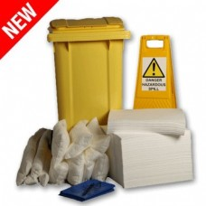 240L Oil Only Spill Response Kit 2 Wheel PE Bin