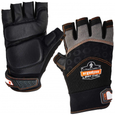 Shock & Impact Dampening Fingerless Ergodyne Gloves