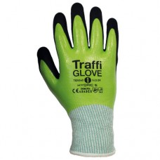 Hydric 5 Cut Level C Water & Oil Proof Green Traffi Safety Glove