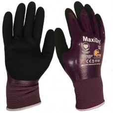 MaxiDry Knitwrist Oil Repellant Grippy Fully Coated Nitrile Glove ATG®