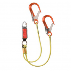 heightec® ELITE twin lanyard, 1.25m – delta, scaff hook