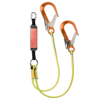 heightec® ELITE twin energy absorbing fall arrest lanyard – oval, scaff hook