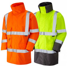 Breathable Waterproof Lightweight Mesh Lined Class 3 High Vis Coat