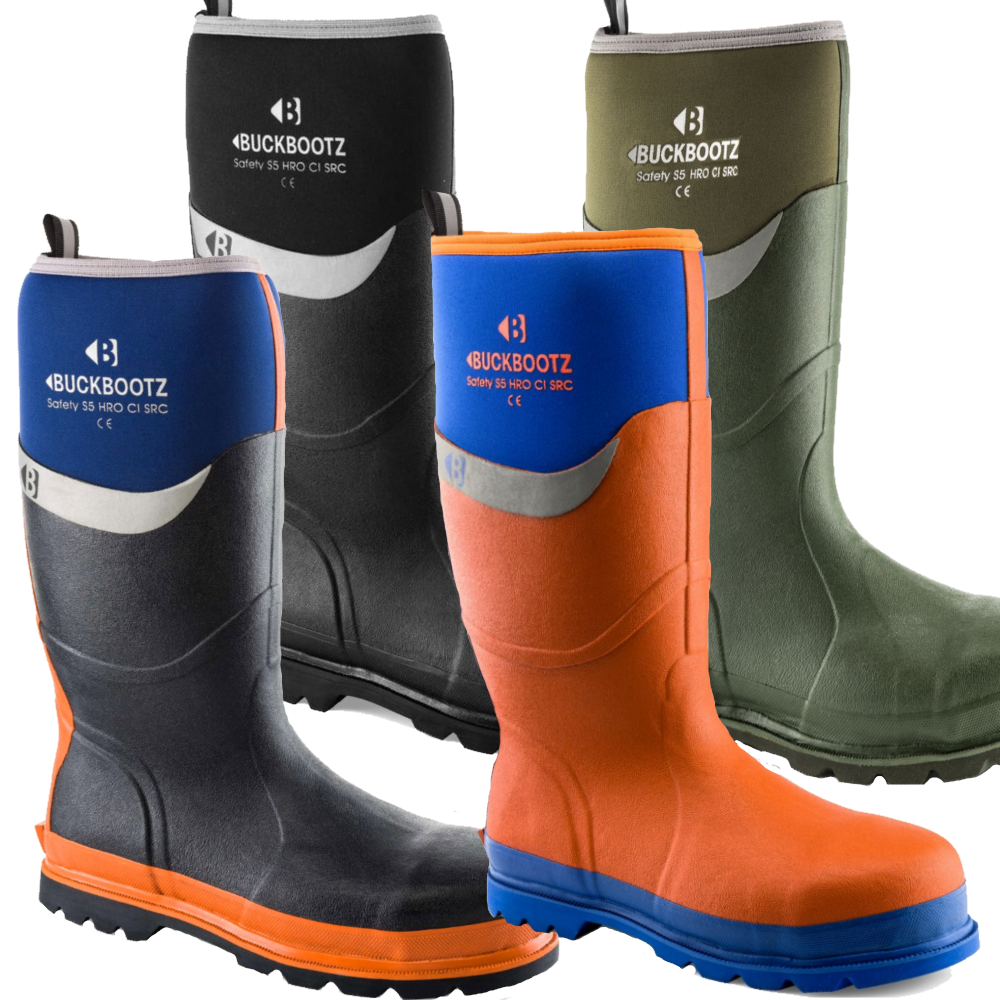 0fd6dc64e1e Buckbootz resistant to water, cold, oil, heat & breathable Safety  Wellingtons | GlovesnStuff